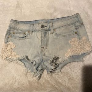 American Eagle Jean Shorts with Lace